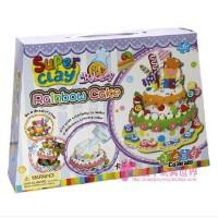 卡乐淘 超轻粘土七彩蛋糕3d彩泥模具套装diy橡皮泥儿童玩具 儿童diy粘土送小朋友生日礼物 奖品