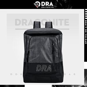 DRACONITE潮牌尼龙光面双肩包男生夏时尚带盖大容量旅行背包11694