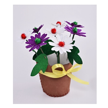 幼儿园手工制作材料 diy小学生做花盆