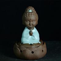 新汝窑盘香炉 手工陶瓷 小如来 宗教风水工艺品 家居摆件