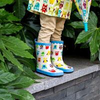 儿童雨鞋宝宝雨靴可爱卡通猫头鹰雨靴女童男童防滑雨鞋