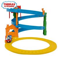 托马斯和朋友小火车轨道车旋转赛道套装合金小火车头玩具车BHR97