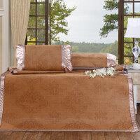 富安娜家纺出品圣之花凉席双面席子折叠双人1.8m床凉席三件套1.5米 约克郡清爽凉席