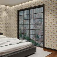 斯图 PVC自粘墙纸 ST2027 4.5平方《闪电狗》儿童 卡通墙纸 带胶墙纸 旧家具翻新贴 墙贴