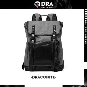 DRACONITE时尚潮流韩版潮牌双肩包男帆布书背包女许魏洲同款11489
