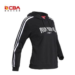 CBA女子运动卫衣 舒适透气套头衫女款连帽卫衣运动服