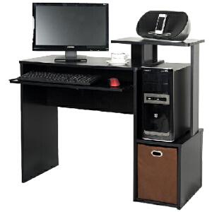 [当当自营]慧乐家 多功能带抽写字桌 黑色12095 台式电脑桌