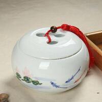 尚帝 小三圈哥窑茶叶罐 陶瓷茶叶罐密封罐 功夫茶道配件XM156DYPG1