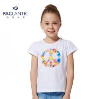 派克兰帝品牌童装 夏装女童圆领短袖T恤 儿童T恤