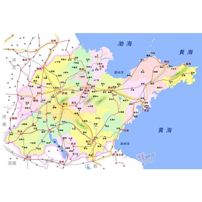 山东省地图(1:600000)