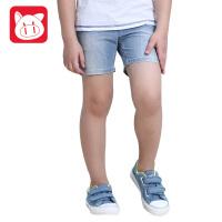 小猪班纳童装2017夏季新品男童纯棉短裤薄款儿童牛仔短裤男中大童
