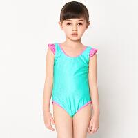 弈姿EZI女童泳衣 儿童游泳衣女孩中大童宝宝可爱连体泳装10162