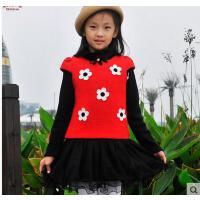 新款秋冬装儿童韩版潮背心裙加厚加绒羊毛呢子女童公主连衣裙