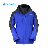 【满500减150】Columbia/哥伦比亚户外男款防水透气三合一冲锋衣PM7608