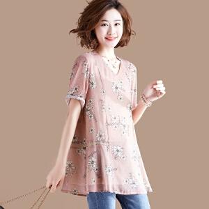 夏装新款宽松短袖T恤女原宿学生风GT759-7314