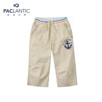 派克兰帝品牌童装 夏装男童炫彩两穿七分裤儿童短裤