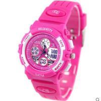 跑步运动个性     防水运动学生手表双显夜光手表      儿童手表女孩电子表