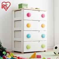 爱丽思IRIS 儿童环保彩色扣四层抽屉式整理储物收纳柜HG-554 包邮