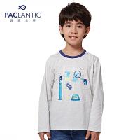 派克兰帝 男童卡通印花长袖T恤