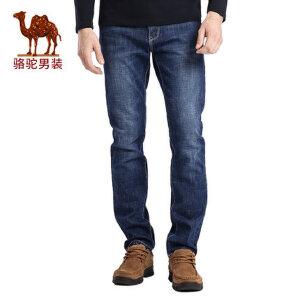 骆驼男装 秋季新款时尚都市青年中腰商务休闲牛仔裤男士长裤子