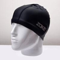 儿童硅胶莱卡泳帽适合头围大 男女童护耳防水游泳帽