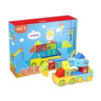 阿李罗火火兔小翰童磁力片积木大颗粒拼插磁力块DIY益智玩具启蒙动手玩具A2-030
