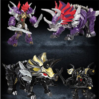 合金恐龙变形玩具金刚5 机器人模型威将儿童男孩暗黑钢索霸王龙