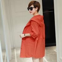 薇小歪春夏装新款韩版修身薄外套女七分袖大码女装中长款春夏GD323-8508