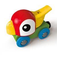 德国HapeE3808鹦鹉口哨小火车儿童火车轨道玩具