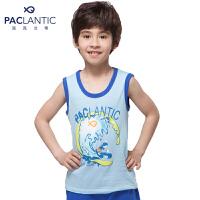 派克兰帝品牌童装 夏装男童时尚无袖T恤