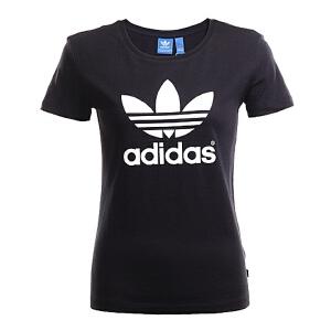 adidas阿迪三叶草2016年新款女子三叶草系列短袖T恤AJ8084