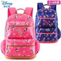 迪士尼小学生书包女童轻3-6年级韩版减负中学生休闲双肩背包女5