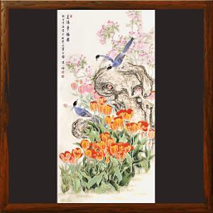 《美满幸福图》女工笔画协会委员,书画家协会一级美术师张一娜工笔国画