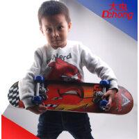 60CM四轮儿童滑板车 专业四轮卡通小朋友滑板 双面图案