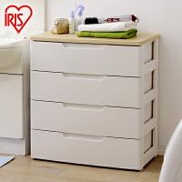 爱丽思IRIS 4层环保树脂抽屉式整理柜宝宝衣物收纳柜HG-724B