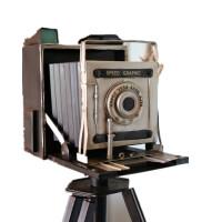 复古落地照相机拍摄陈列道具咖啡厅服装店店面橱窗装饰品摆件摆设