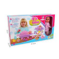 过家家婴儿床吃睡玩洗澡 仿真洋娃娃 女孩生日礼物益智玩具