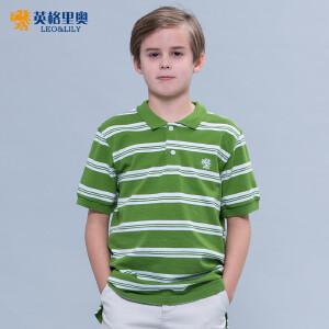 2017新品中大童装男童夏装条纹T恤学生男孩polo衫纯棉儿童短袖