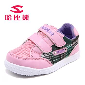 【儿童节】哈比熊童鞋宝宝鞋男童春秋款软底学步鞋1-3岁女童透气网布婴儿鞋