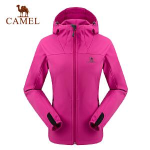camel骆驼户外软壳衣 防风耐磨保暖女款软壳衣