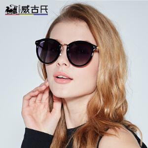 威古氏吴倩同款潮流防紫外线眼镜复古偏光太阳镜墨镜女士驾驶镜6112