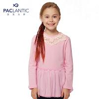 派克兰帝儿童T恤外衣 女童连衣裙式长袖T恤