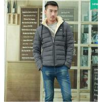 男士棉衣 男长袖 开衫衣 可脱卸帽 外套韩版修身棉服青少年学生青年加厚棉袄