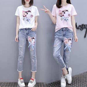 夏季短袖T恤女士韩版百搭学生衣服夏装新款女装上衣BH500-1748