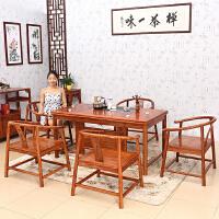 包邮简迪红木家具实木茶桌椅组合仿古中式功夫茶几电磁炉茶桌茶艺桌泡茶台茶具套装