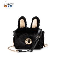 Miffy米菲可爱萌系毛绒兔子单肩包女包秋冬新款韩版书包女生斜挎包