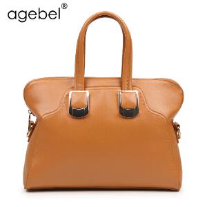 艾吉贝正品 韩版女士单肩包手提包女 新款女包简约时尚潮复古包包
