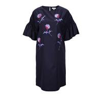 KENZO纯羊毛花朵刺绣女士短袖连衣裙 支持礼品卡支付