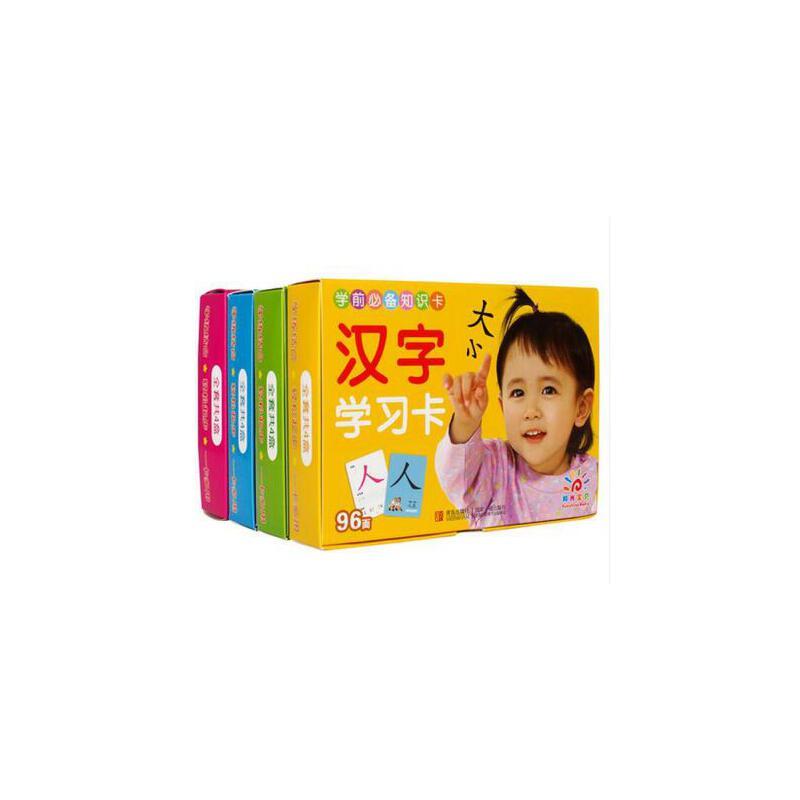 儿童看图认字识字卡3-6岁 全4盒 幼儿园学前学习认知早教卡片 宝宝