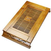 林仕屋原木茶台茶具功夫茶海抽屉式排水茶池正方形实木茶盘CTSCP01